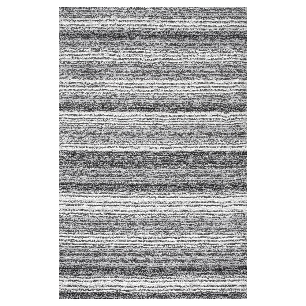 Gray Stripe Tufted Area Rug - (5'x8') - nuLOOM, Grey Multi
