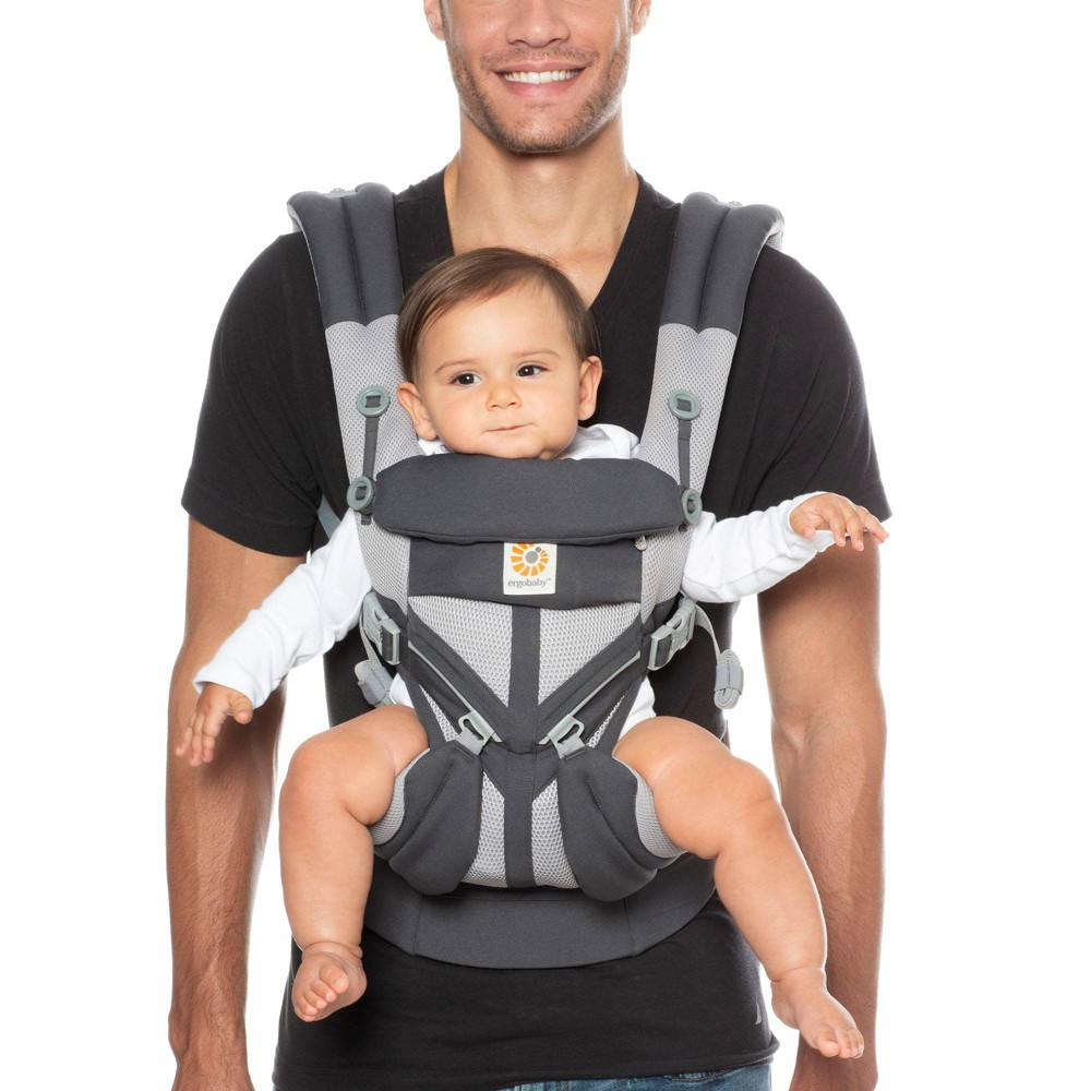 Image of Ergobaby Omni 360 Cool Air Mesh All Carry Positions Baby Carrier - Carbon Gray
