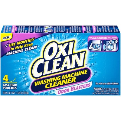 OxiClean Washing Machine Cleaner Pouches with Odor Blasters - 4 ct