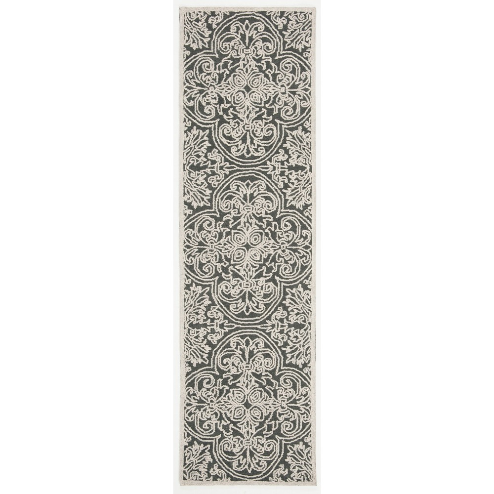 2'3X4' Shapes Tufted Accent Rug Gray - Safavieh