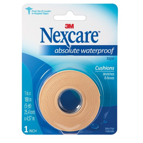 Nexcare Absolute Waterproof First Aid Tape, Tan, 1 in x 5 yds - image 1 of 3