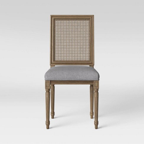 Natick Fabric Seat Cane Back Dining Chair - Threshold™ - image 1 of 3