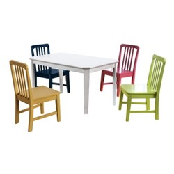 HollyKids Table and Chair Set White - ioHOMES