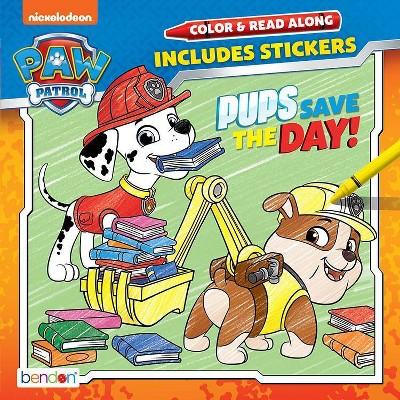 PAW Patrol Color & Read Book