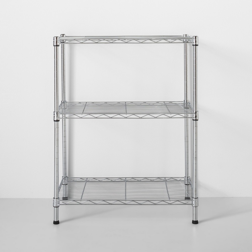 Image of 3 Tier Wire Shelf Chrome - Made By Design , Grey