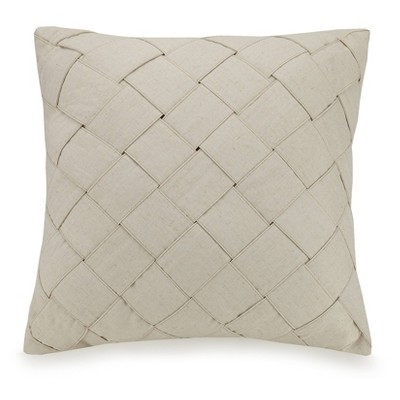 """Ayesha Curry 20""""X20"""" Modern Ombre Basketweave Throw Pillow Tan"""