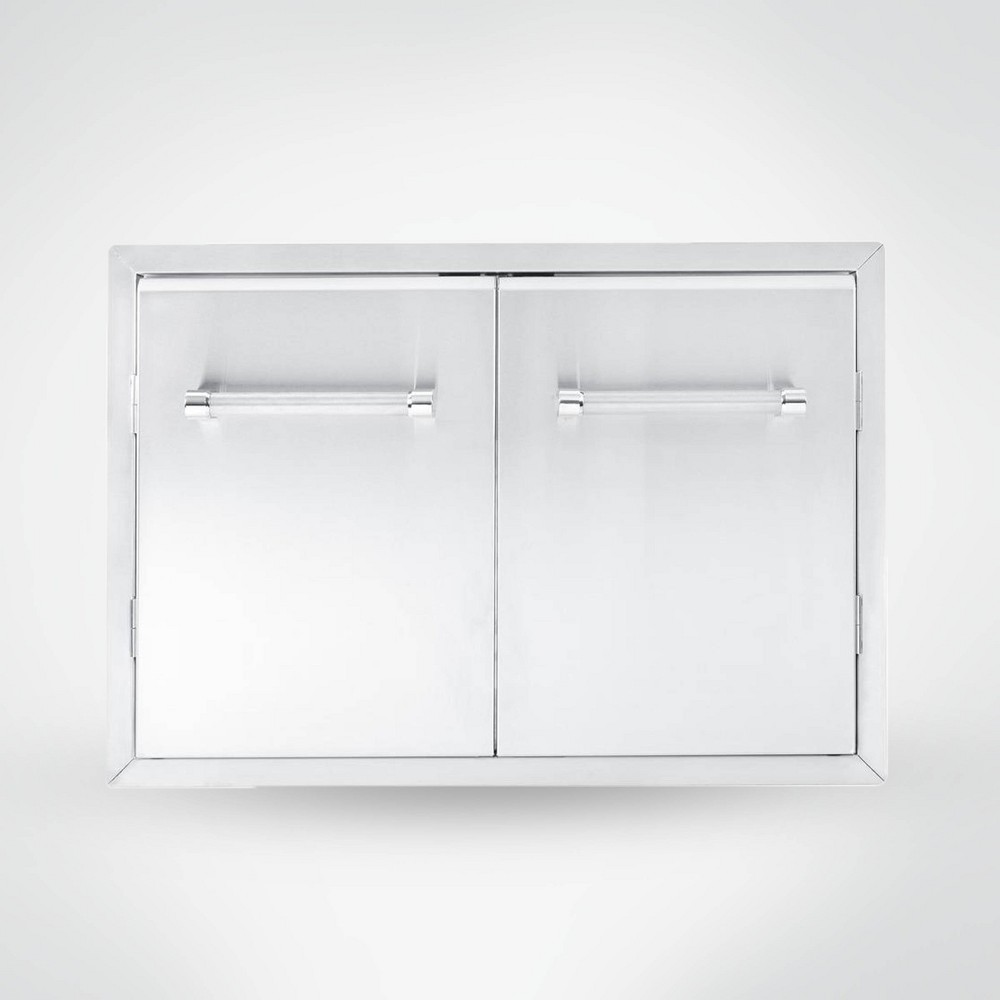 KitchenAid 33 Outdoor Kitchen Built-In Grill Cabinet - Silver