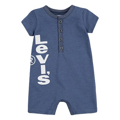 Levi's® Baby Boys' Chambray Henley Coveralls - True Blue