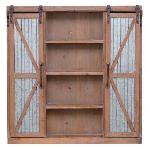 Westerly Barn Door Cabinet Brown Firstime Target