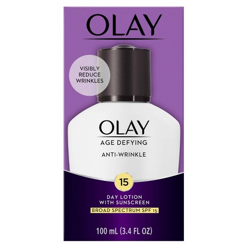 Olay Age Defying Anti-Wrinkle Day Lotion with Sunscreen - SPF 15 - 3.4oz - image 1 of 3