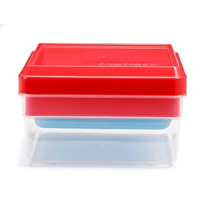 Fit & Fresh Sandwich and Snack Box - Red/Blue