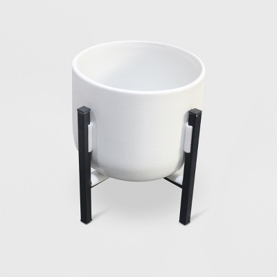 ceramic-planter-with-stand-white_black---project-62 by shop-collections