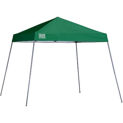 Quik Shade 160717 Expedition 10 Foot x 10 Foot Instant Pop Up Outdoor Shaded Canopy Tent Shelter for Up to 12 People, Green