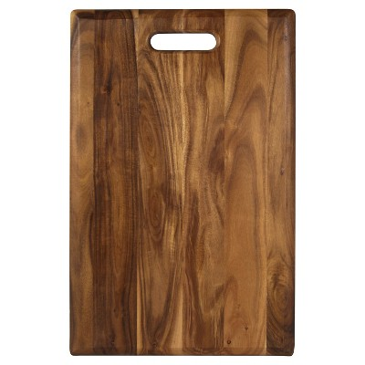 "Architec 12""x16"" Acacia Wood Serving & Cutting Board with Handle"