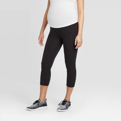 Maternity Crossover Panel Active Capri Pants - Isabel Maternity by Ingrid & Isabel™