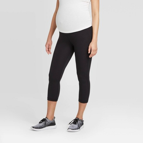 Crossover Panel Active Capri Maternity Pants - Isabel Maternity by Ingrid & Isabel™ - image 1 of 4