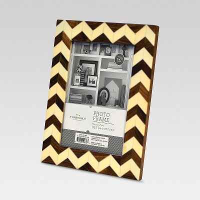 5 x7  Wood & Ivory Frame - Threshold™