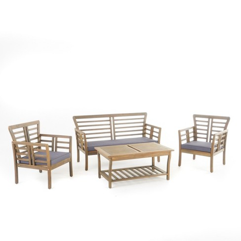 Caydon 4pc Acacia Chat Set - Christopher Knight Home - image 1 of 4