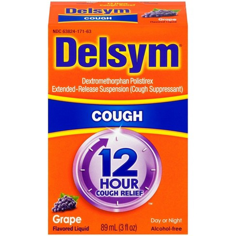 Delsym Cough Relief Liquid - Grape - image 1 of 4