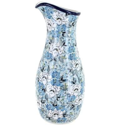Blue Rose Polish Pottery Signature Water Carafe