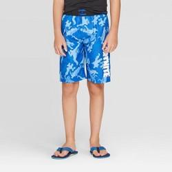 Boys' Fortnite Camo Print Swim Trunks - Blue