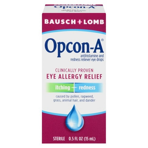 Allergy Eye Drops >> Bausch Lomb Allergy Relief Eye Drops 0 5 Oz Target