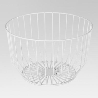 14  x 8.5  Round Wire Basket White - Project 62™