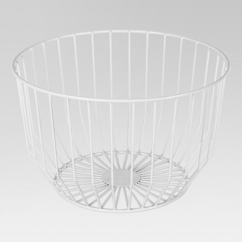 Round Wire Basket Medium - White - Project 62™ - image 1 of 1