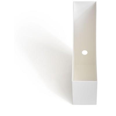 TRU RED Plastic Magazine File, White TR55280