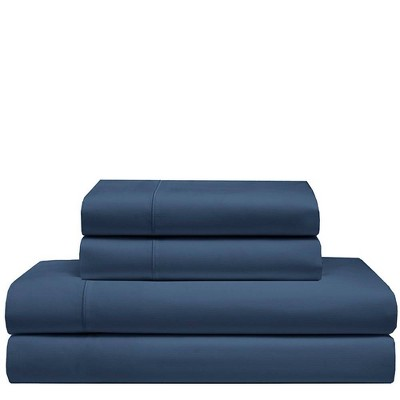 King 525 Thread Count Solid Cooling Cotton Sheet Set Dusk Blue - Elite Home Products