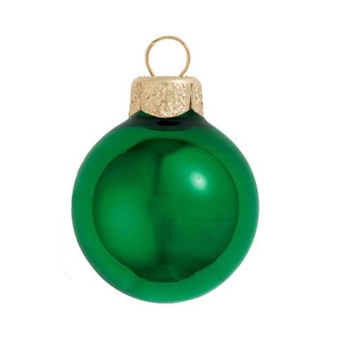 "Northlight 40ct Shiny Glass Ball Christmas Ornament Set 1.5"" - Green Xmas - image 1 of 1"