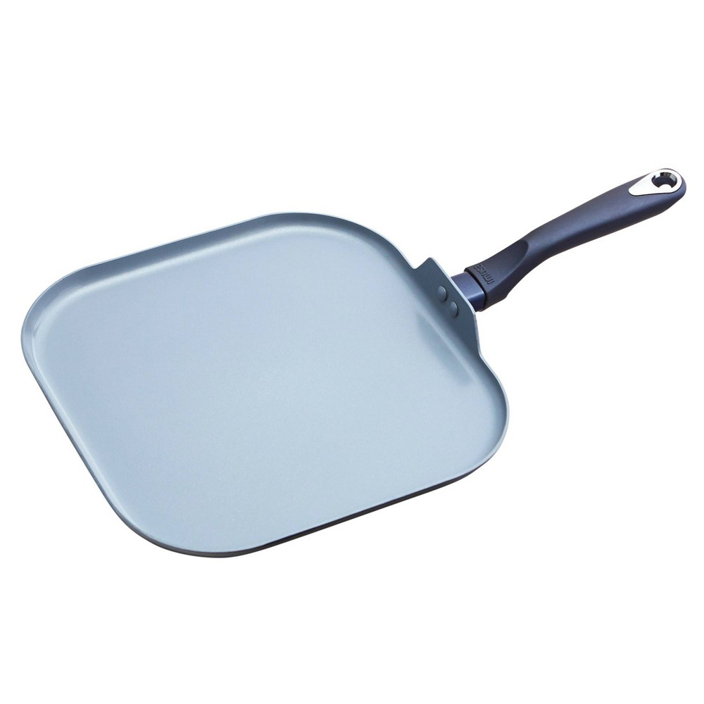 "Image of ""IMUSA 11"""" Ceramic Griddle with Soft Touch Handle Blue"""