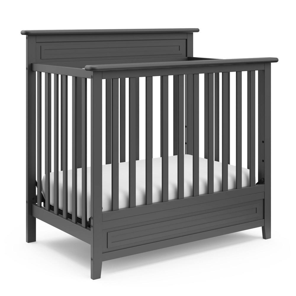 Storkcraft Petal Convertible Mini Crib With 3 Mattress - Gray Cheap