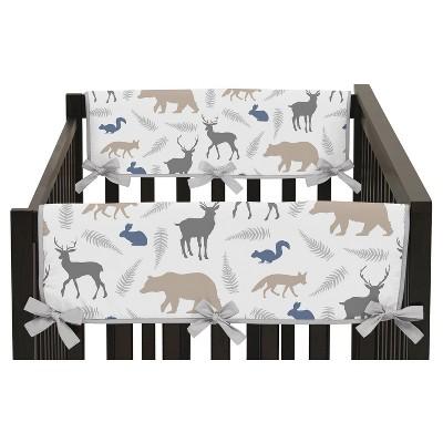 Sweet Jojo Designs Side Crib Rail Guard Covers - Woodland Animals