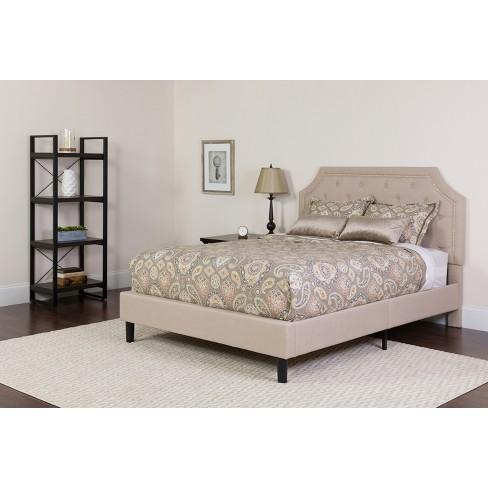 Tufted Upholstered Platform Bed, Queen Upholstered Platform Bed Frame With Legs Jubilee Mattress