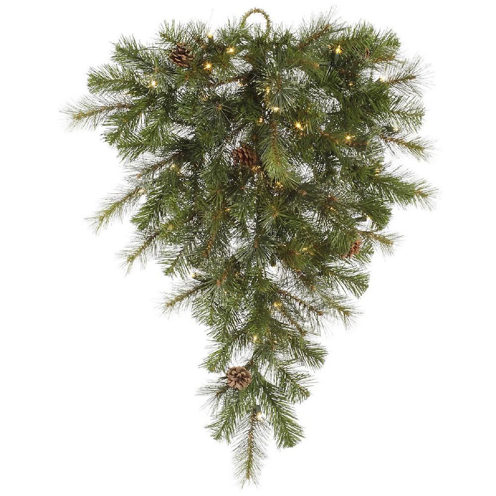 32 Dura-Lit Christmas SwagLit Modesto Mixed Teardrop - Clear Lights, Green