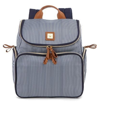 Bananafish Striped Breast Pump Backpack - Blue/White - image 1 of 4