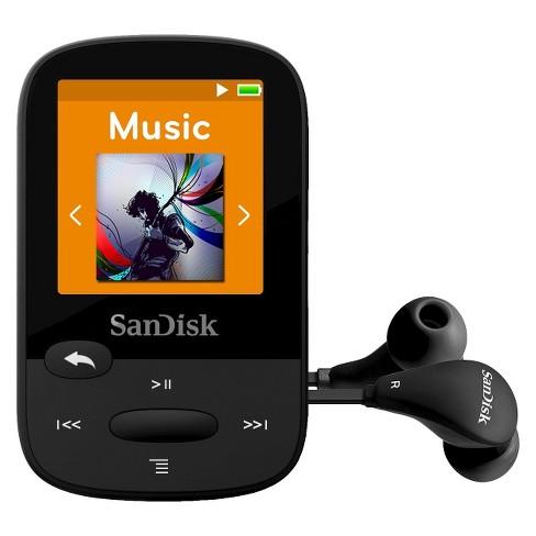 SanDisk Flash Mp3 Player 8GB - Black (SDMX24008K)