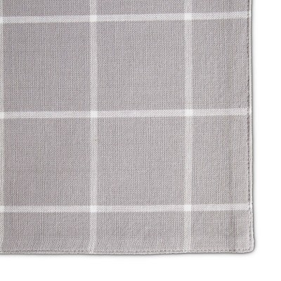 4pk Cotton Window Pane Placemats Gray - Town & Country Living