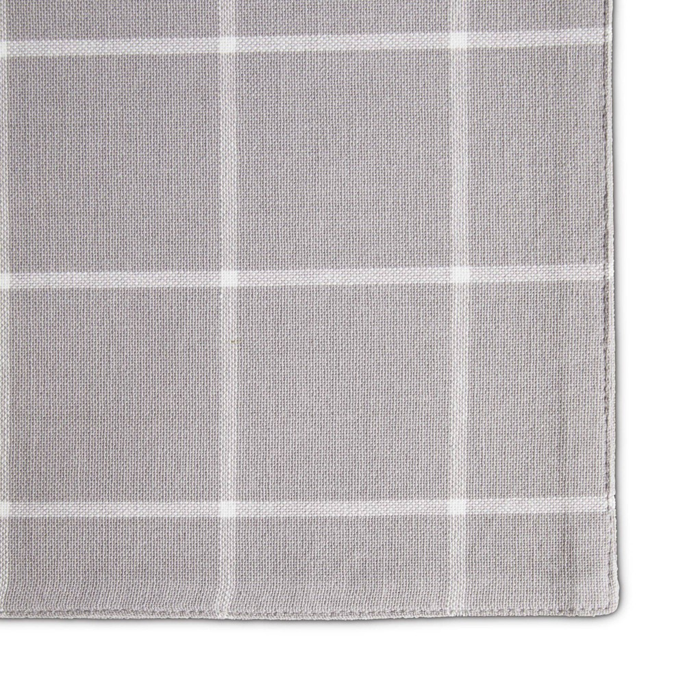 Image of 4pk Cotton Window Pane Placemats Gray - Town & Country Living