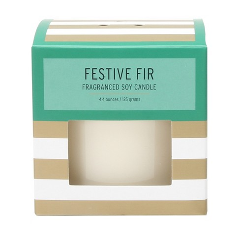 Boxed Glass Candle Festive Fir 4.4oz - SOHO Brights - image 1 of 1