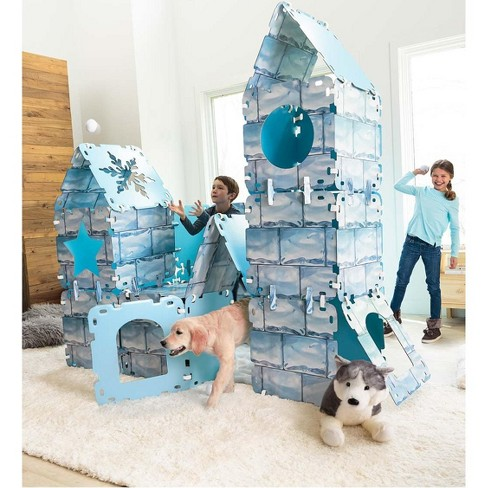 Igloo Fantasy Fort For Kids With Cardboard Panels, With 32 Panels - Hearthsong - image 1 of 2