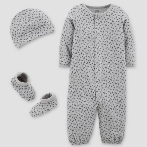 Baby Boys' Converter Gown, Hat and Booties Set - Just One You™ Made by Carter's®  Gray - image 1 of 1