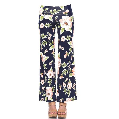 Women's Floral Printed Palazzo Pants - White Mark