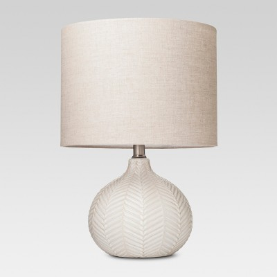 Textured Ceramic Accent Lamp Cream (Lamp Only)- Threshold™