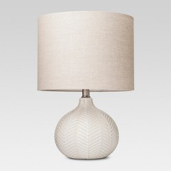 Textured Ceramic Accent Lamp Cream - Threshold™
