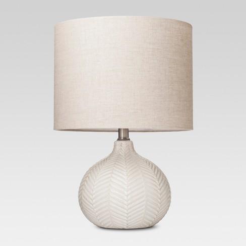 Textured Ceramic Accent Lamp Cream - Threshold™ - image 1 of 4