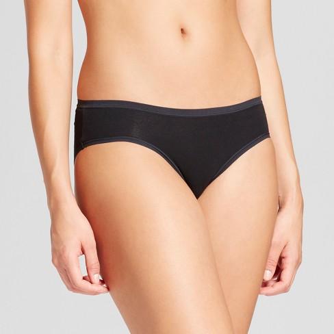 Women's Cotton Bikini - Gilligan & O'Malley Black