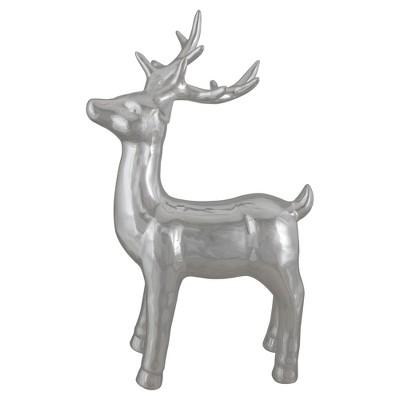 "Northlight 14"" Metallic Silver Standing Reindeer Christmas Tabletop Decor"