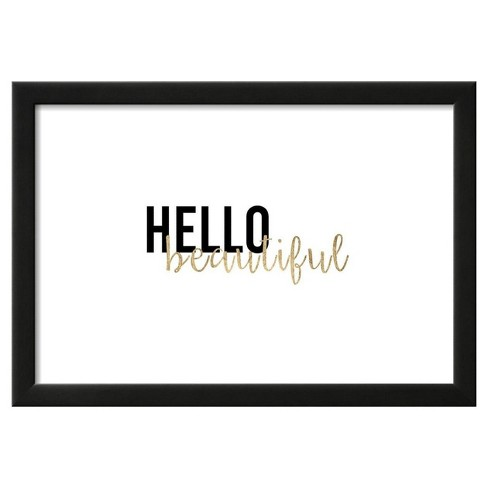 """Golden Quote I by Anna Hambly Framed Poster 19""""x13"""" - Art.Com - image 1 of 3"""
